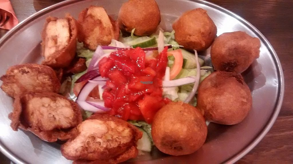"""Photo of The  Pakora Bar  by <a href=""""/members/profile/TrixieFirecracker"""">TrixieFirecracker</a> <br/>Veggie haggis and cauliflower pakora <br/> February 7, 2017  - <a href='/contact/abuse/image/79527/223865'>Report</a>"""