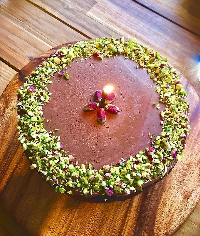 """Photo of Hungry Elephant  by <a href=""""/members/profile/Dharini"""">Dharini</a> <br/>chocolate pistachio cake <br/> July 1, 2017  - <a href='/contact/abuse/image/79543/275467'>Report</a>"""