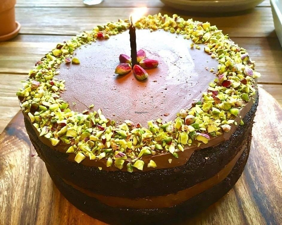 """Photo of Hungry Elephant  by <a href=""""/members/profile/Dharini"""">Dharini</a> <br/>chocolate pistachio cake <br/> July 1, 2017  - <a href='/contact/abuse/image/79543/275468'>Report</a>"""