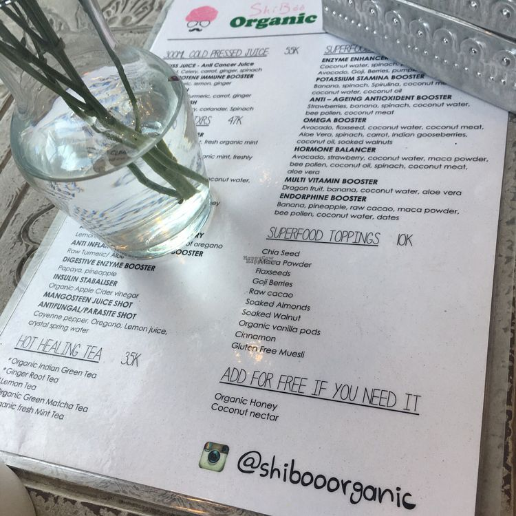 """Photo of CLOSED: ShiBoo Organic Superfood Cafe  by <a href=""""/members/profile/Spaghetti_monster"""">Spaghetti_monster</a> <br/>menu <br/> September 3, 2016  - <a href='/contact/abuse/image/79544/173170'>Report</a>"""