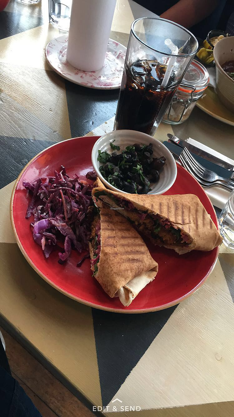 "Photo of Zinco Lounge  by <a href=""/members/profile/RachelJenkins"">RachelJenkins</a> <br/>Falafel hummus wrap with vegan slaw <br/> January 30, 2018  - <a href='/contact/abuse/image/79600/352744'>Report</a>"