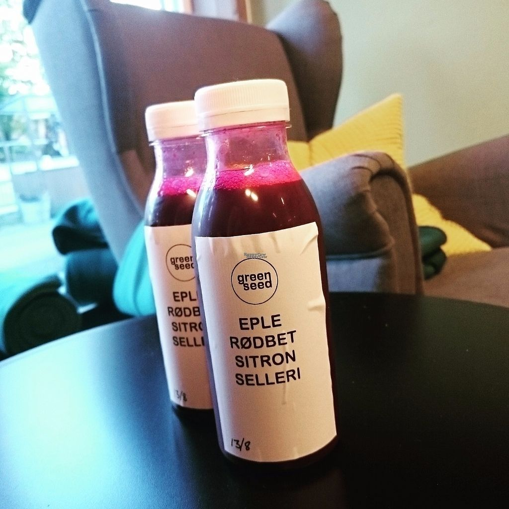 """Photo of CLOSED: Greenseed Jessheim  by <a href=""""/members/profile/Elinkatari"""">Elinkatari</a> <br/>Vegetable juices! This is one of Five Amazon flavours <br/> September 4, 2016  - <a href='/contact/abuse/image/79608/173417'>Report</a>"""