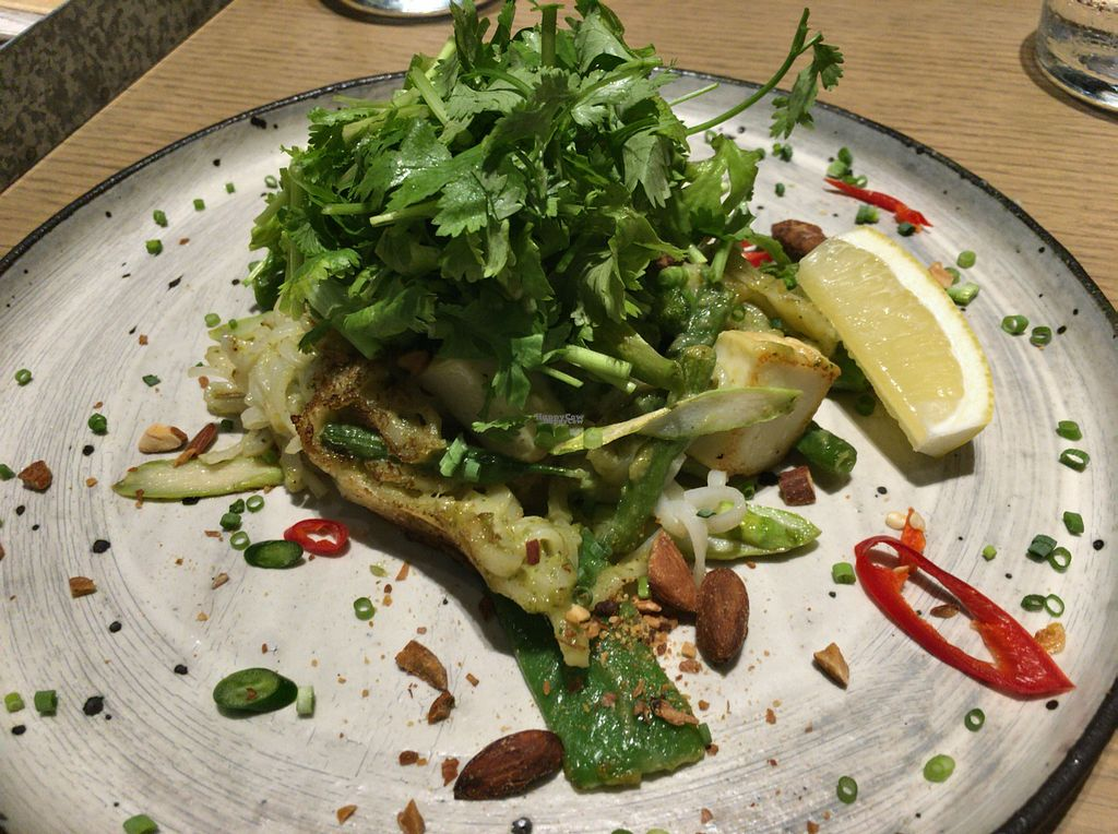 "Photo of Cosme Kitchen Adaptation - Atre West  by <a href=""/members/profile/Tomo%20Okabe"">Tomo Okabe</a> <br/>Green curry flavored Pad Thai with cilantro.  <br/> September 4, 2016  - <a href='/contact/abuse/image/79612/173454'>Report</a>"