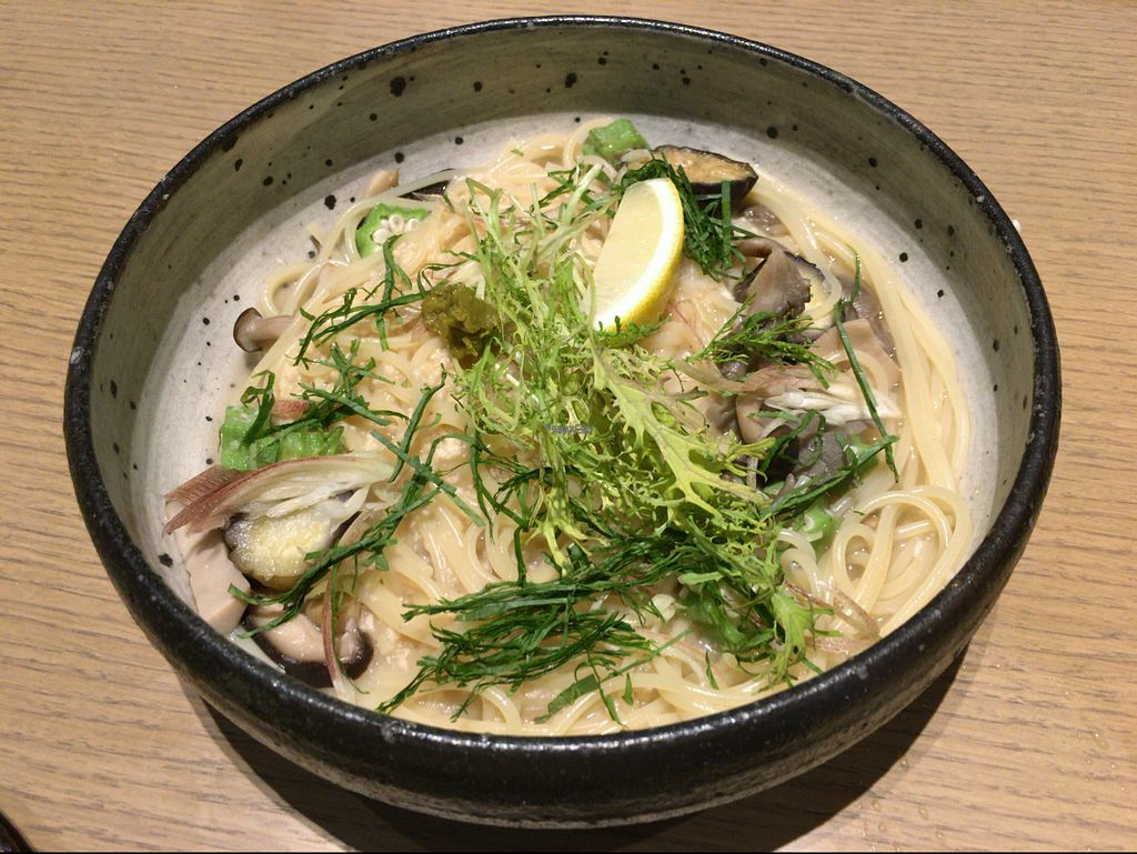 "Photo of Cosme Kitchen Adaptation - Atre West  by <a href=""/members/profile/Tomo%20Okabe"">Tomo Okabe</a> <br/>Japanese style Pasta with mushrooms.  <br/> September 4, 2016  - <a href='/contact/abuse/image/79612/173457'>Report</a>"