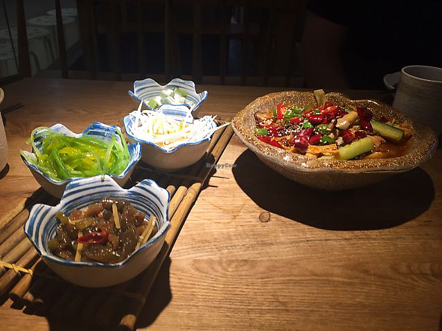 """Photo of Shui Mu Sheng  by <a href=""""/members/profile/girlblue"""">girlblue</a> <br/>mixed starters and spicy tofu skin hot pot <br/> August 11, 2017  - <a href='/contact/abuse/image/79633/291390'>Report</a>"""