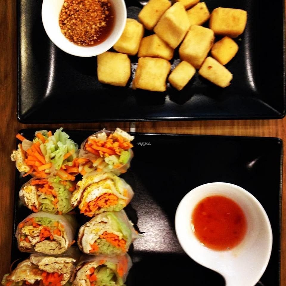 """Photo of CLOSED: Thai Spice Fusion  by <a href=""""/members/profile/KristineValtere"""">KristineValtere</a> <br/>Fried Tofu and Fresh Spring Roll <br/> September 5, 2016  - <a href='/contact/abuse/image/79653/173699'>Report</a>"""
