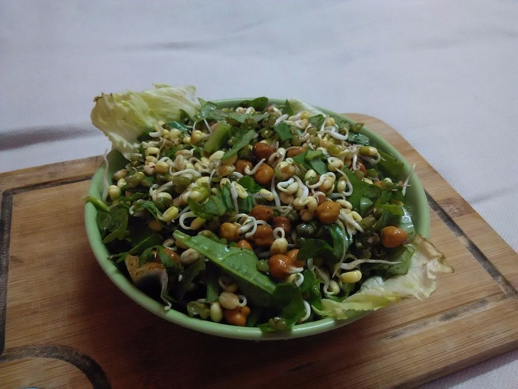 "Photo of Veganza Cafe  by <a href=""/members/profile/IshanShekhawat"">IshanShekhawat</a> <br/>Mixed Sprouts Salad <br/> September 26, 2016  - <a href='/contact/abuse/image/79656/178003'>Report</a>"
