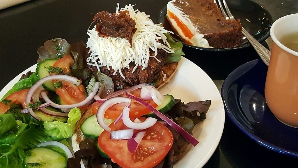 """Photo of REMOVED: The Gallery Cafe  by <a href=""""/members/profile/Clare"""">Clare</a> <br/>burger and cake <br/> March 12, 2017  - <a href='/contact/abuse/image/79659/235433'>Report</a>"""