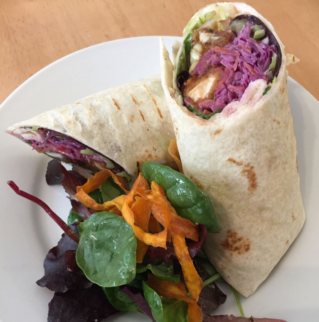 """Photo of Crazy Bean Cafe  by <a href=""""/members/profile/Rachiem"""">Rachiem</a> <br/>Sticky BBQ wrap <br/> November 6, 2016  - <a href='/contact/abuse/image/79668/186865'>Report</a>"""