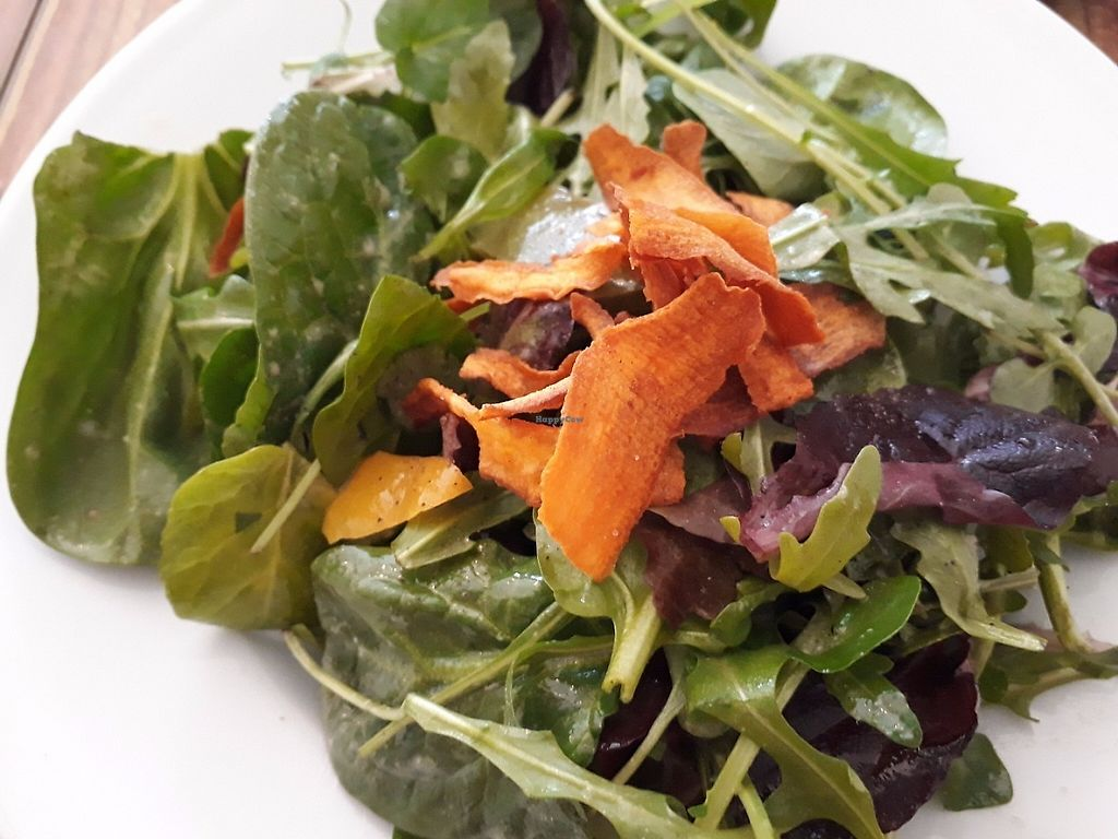 """Photo of Crazy Bean Cafe  by <a href=""""/members/profile/LauraStone90"""">LauraStone90</a> <br/>Side salad with veg crisps <br/> May 29, 2017  - <a href='/contact/abuse/image/79668/263815'>Report</a>"""
