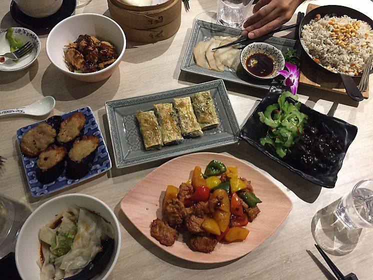 """Photo of The Veggie  by <a href=""""/members/profile/Ashni"""">Ashni</a> <br/>Set lunch for 4 people - amazing!! <br/> November 10, 2017  - <a href='/contact/abuse/image/79669/323891'>Report</a>"""