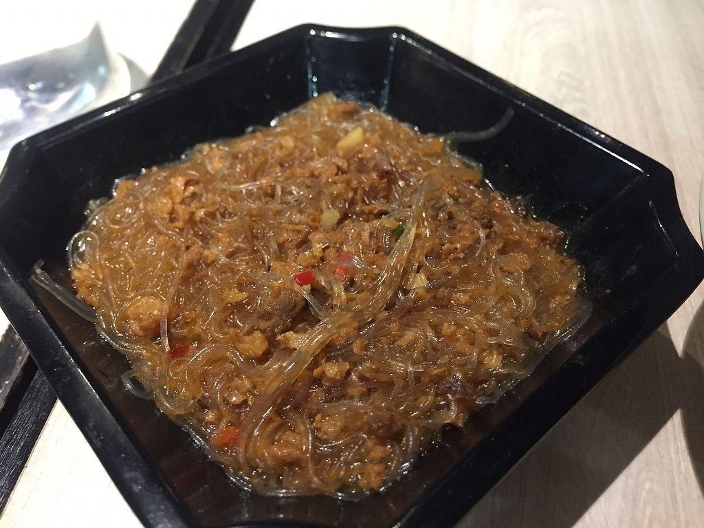 """Photo of The Veggie  by <a href=""""/members/profile/SamanthaIngridHo"""">SamanthaIngridHo</a> <br/>Spicy bean vermicelli with mock minced meat <br/> April 13, 2018  - <a href='/contact/abuse/image/79669/385162'>Report</a>"""