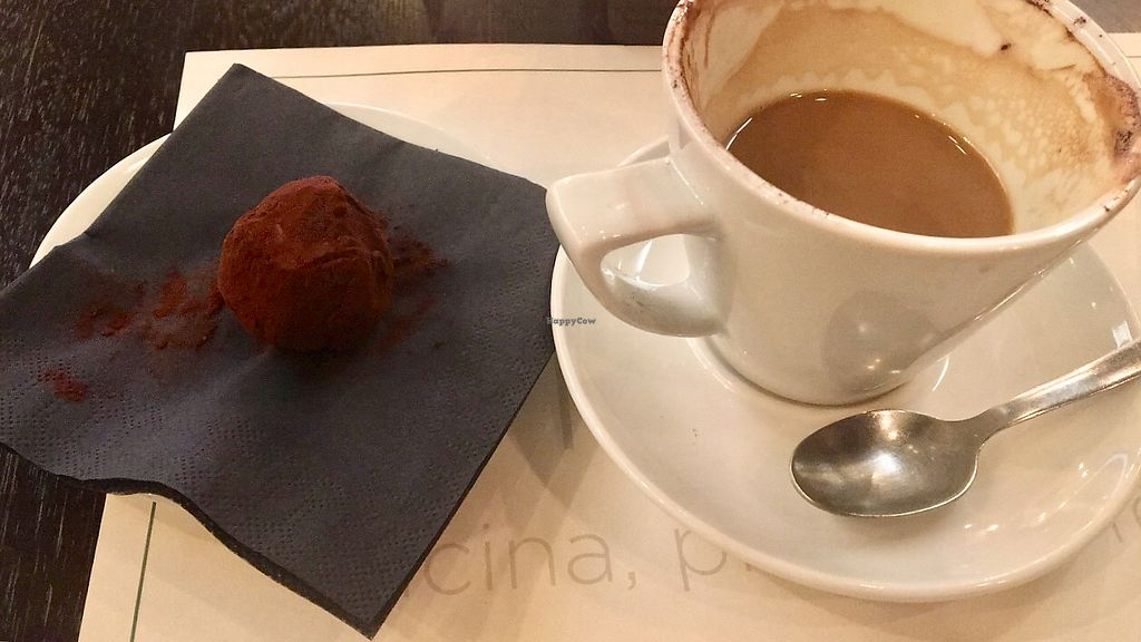 """Photo of Origano   by <a href=""""/members/profile/isaa"""">isaa</a> <br/>Cappuccino with soy milk and vegan chocolate balls <br/> February 6, 2018  - <a href='/contact/abuse/image/79677/355653'>Report</a>"""