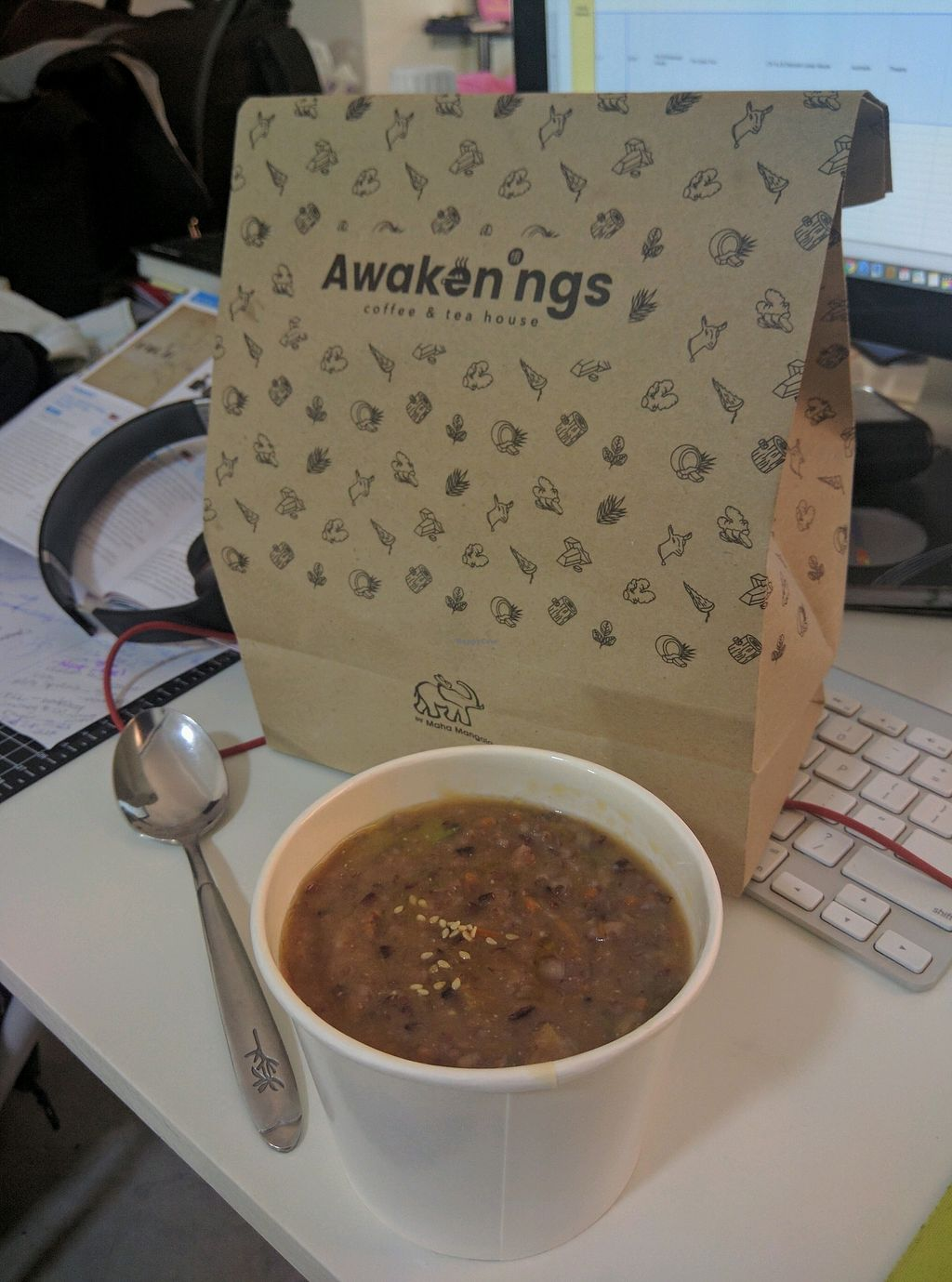 """Photo of Awakenings Coffee & Tea House  by <a href=""""/members/profile/Summer_Tan"""">Summer_Tan</a> <br/>Takeaway Porridge, Good satisfying and filling portion <br/> January 28, 2018  - <a href='/contact/abuse/image/79685/351887'>Report</a>"""