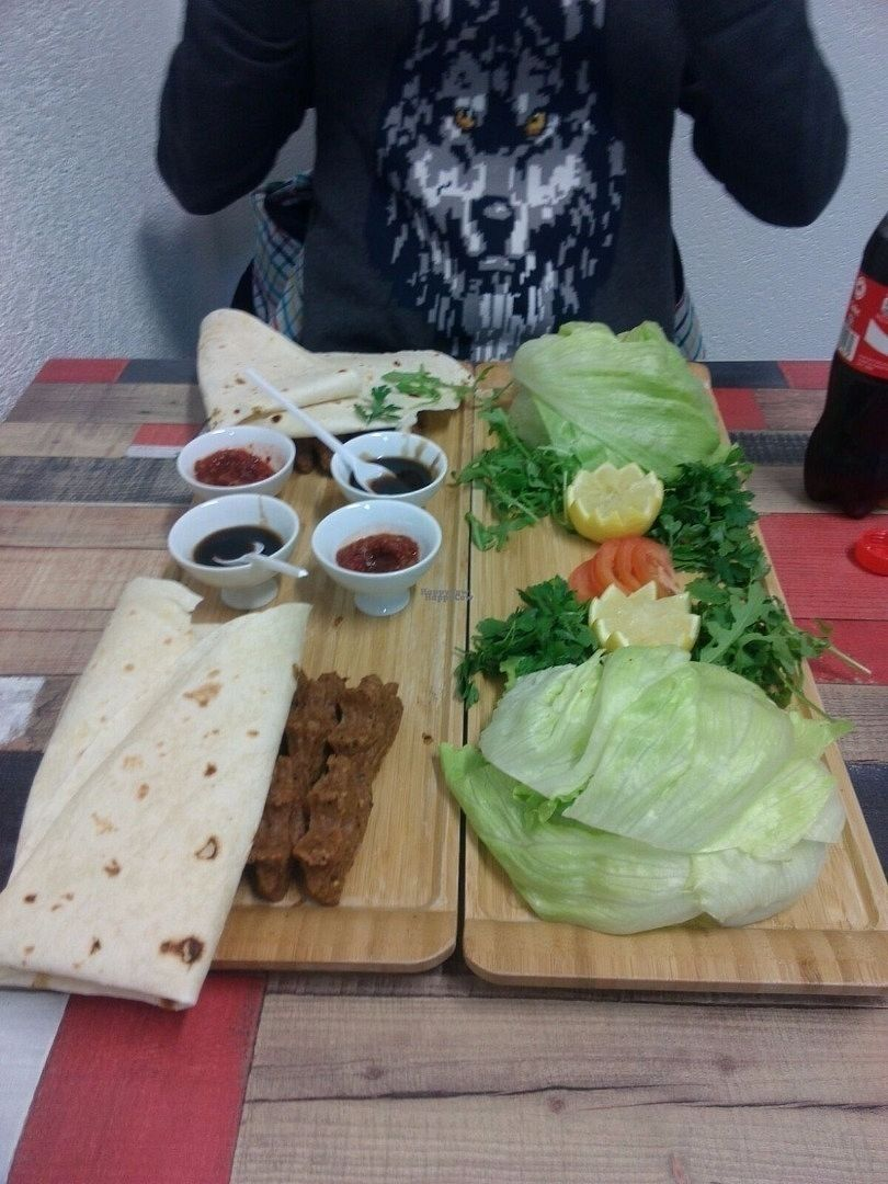 """Photo of Istanbul Cigkofte  by <a href=""""/members/profile/CatarinaNunes"""">CatarinaNunes</a> <br/>Menu 1, good for 2 people <br/> October 23, 2016  - <a href='/contact/abuse/image/79700/183862'>Report</a>"""