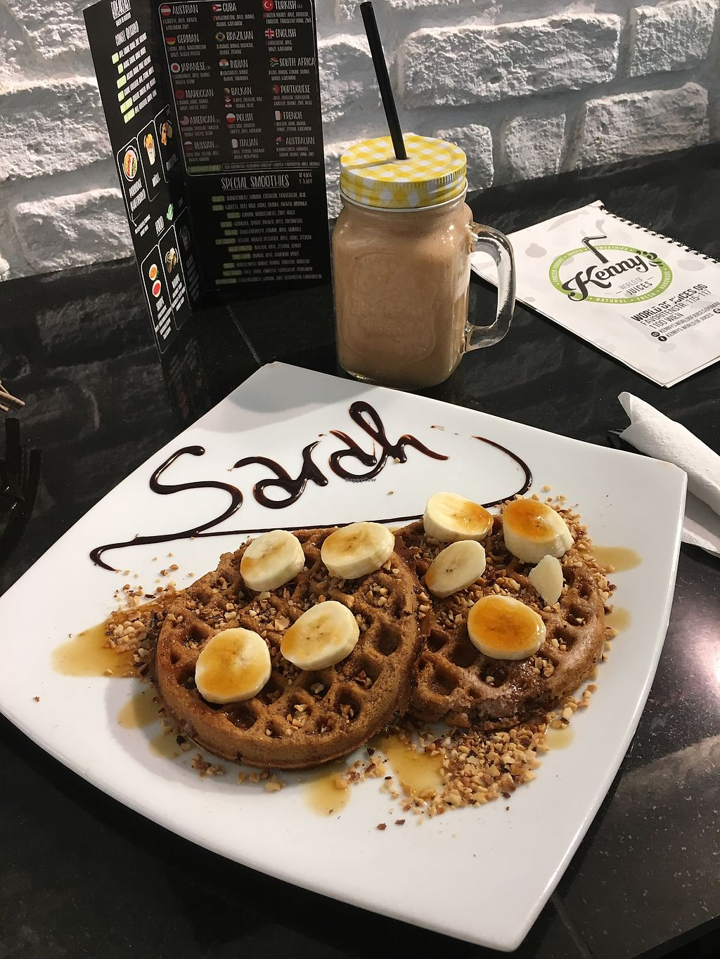 """Photo of Kenny's World of Juices  by <a href=""""/members/profile/SarahBlowers"""">SarahBlowers</a> <br/>Vegan Waffles <br/> January 2, 2018  - <a href='/contact/abuse/image/79702/341947'>Report</a>"""