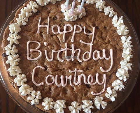 """Photo of REMOVED: Imagine Desserts and Catering  by <a href=""""/members/profile/Nicolearciello"""">Nicolearciello</a> <br/>Chocolate Chip Cookie Cake. Serves 12-15 people.  <br/> September 6, 2016  - <a href='/contact/abuse/image/79704/173969'>Report</a>"""