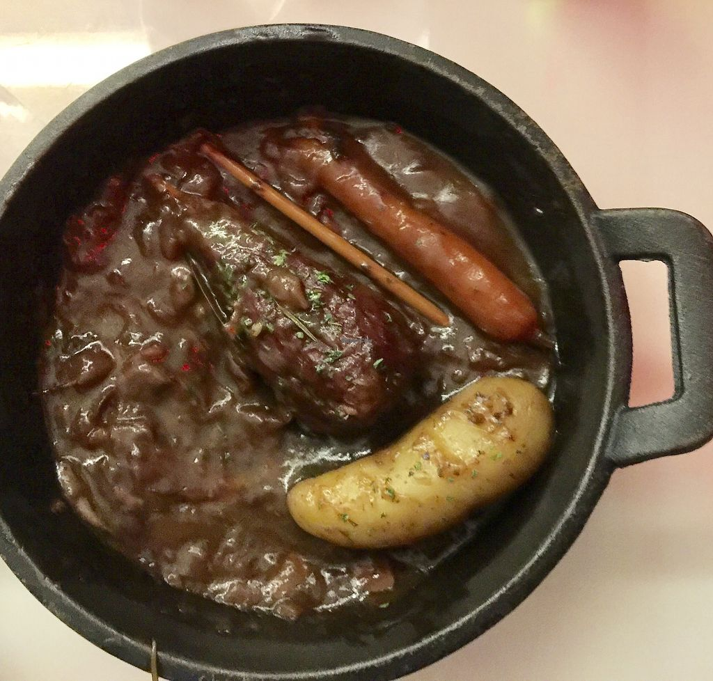 """Photo of Delice & Sarrasin  by <a href=""""/members/profile/Diogenes"""">Diogenes</a> <br/>Cow au Vin (half eaten) <br/> October 2, 2017  - <a href='/contact/abuse/image/79712/310884'>Report</a>"""