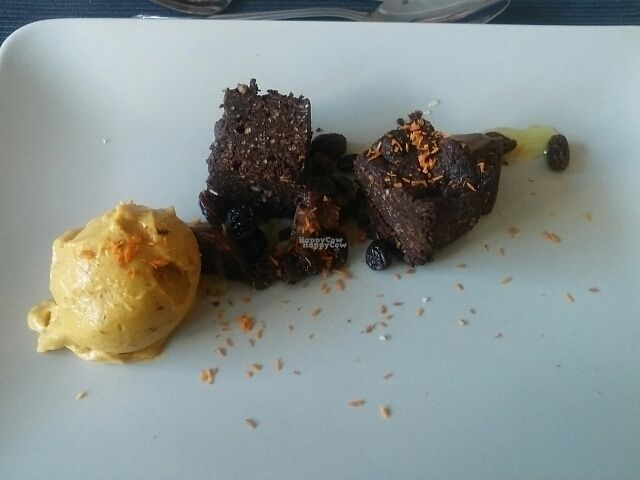 """Photo of The Allotment  by <a href=""""/members/profile/cabbagepatchkid"""">cabbagepatchkid</a> <br/>Chocolate orange brownie with *that* sweet potato custard  <br/> October 2, 2016  - <a href='/contact/abuse/image/79746/179286'>Report</a>"""