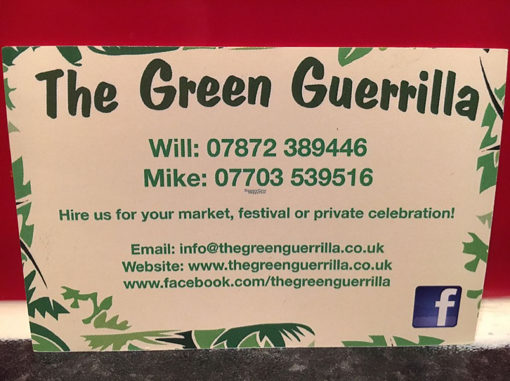 """Photo of The Green Guerrilla  by <a href=""""/members/profile/hack_man"""">hack_man</a> <br/>business card  <br/> January 21, 2017  - <a href='/contact/abuse/image/79799/214164'>Report</a>"""