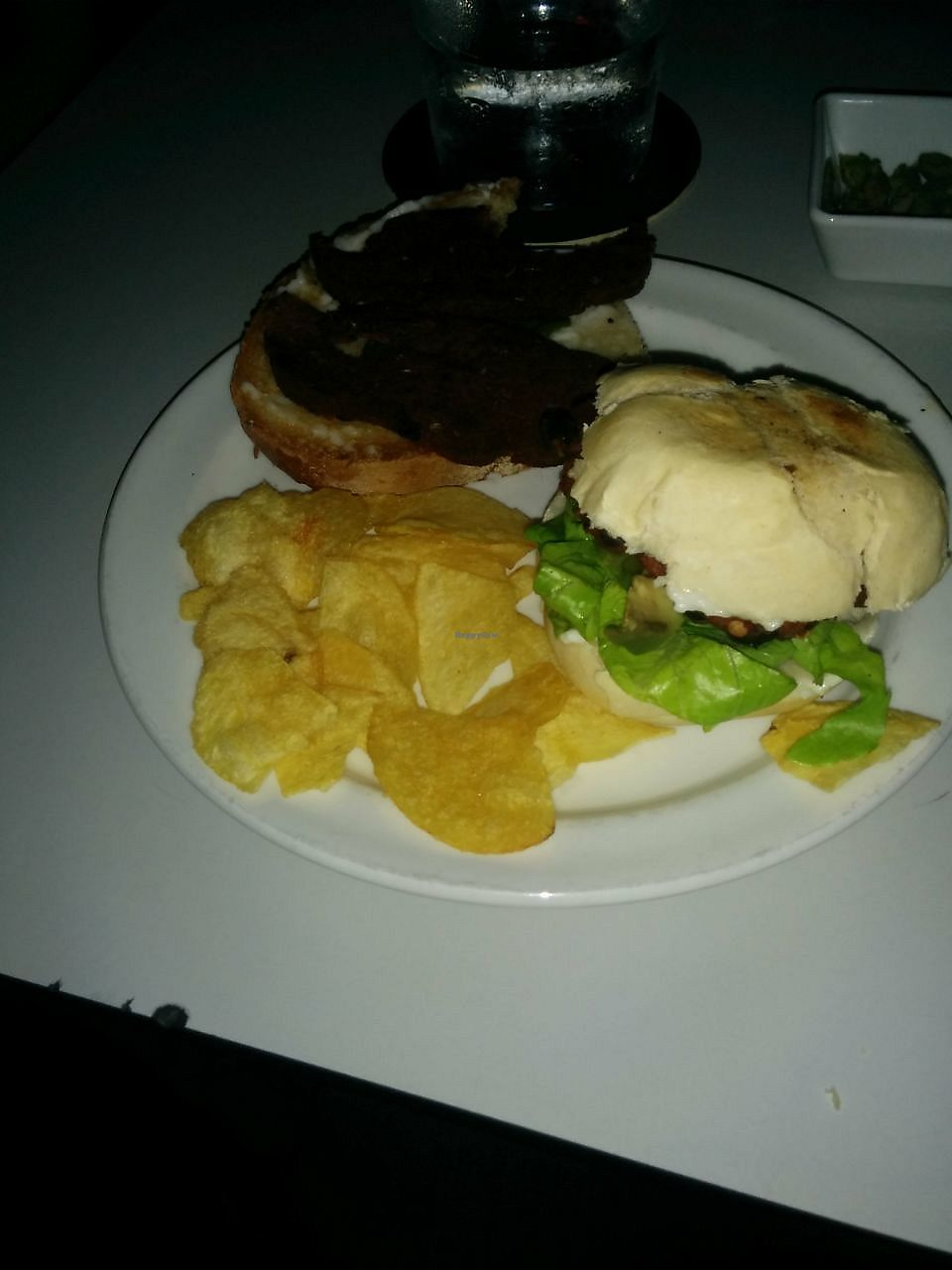 """Photo of CLOSED: Sacio Bar  by <a href=""""/members/profile/FlokiTheCat"""">FlokiTheCat</a> <br/>Vegan chorizo and mex burger <br/> September 22, 2017  - <a href='/contact/abuse/image/79805/307149'>Report</a>"""