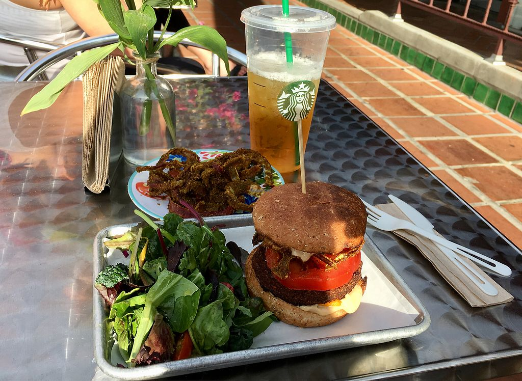 """Photo of Raw Remedy  by <a href=""""/members/profile/Rsonnen"""">Rsonnen</a> <br/>Western burger and dehydrated onion rings  <br/> April 4, 2018  - <a href='/contact/abuse/image/79806/380706'>Report</a>"""