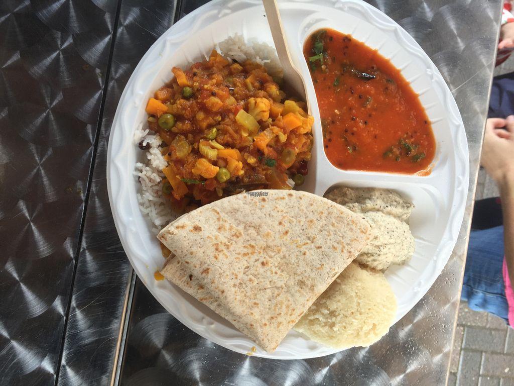 "Photo of Parvati Vegan Catering Van  by <a href=""/members/profile/ramanadeviashramseva"">ramanadeviashramseva</a> <br/>South Indian Thali  <br/> September 8, 2016  - <a href='/contact/abuse/image/79807/174348'>Report</a>"