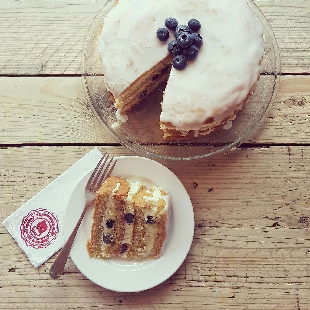 """Photo of Somewhere Else Coffee House & Bakery  by <a href=""""/members/profile/Katiescott"""">Katiescott</a> <br/>Lemon & Blueberry Cake <br/> September 9, 2016  - <a href='/contact/abuse/image/79821/174501'>Report</a>"""