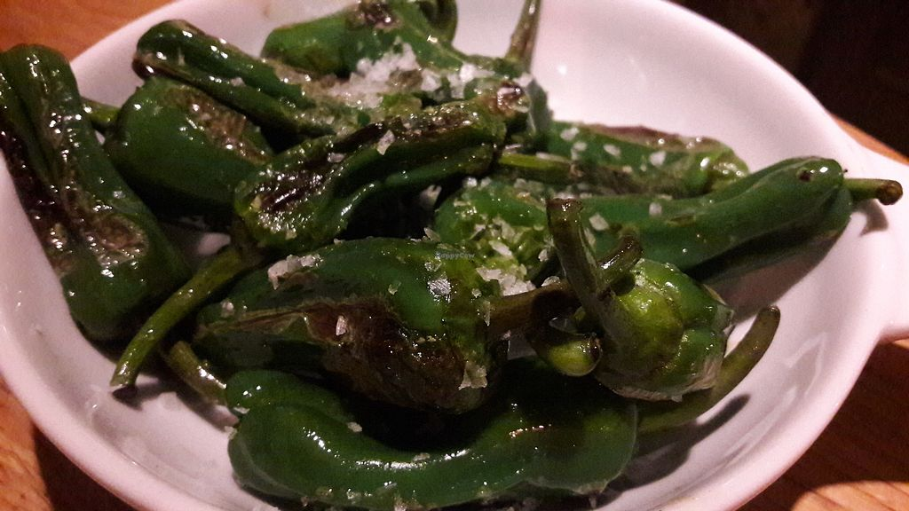 "Photo of All Bar One  by <a href=""/members/profile/Veganolive1"">Veganolive1</a> <br/>Padron peppers <br/> February 24, 2018  - <a href='/contact/abuse/image/79822/363225'>Report</a>"