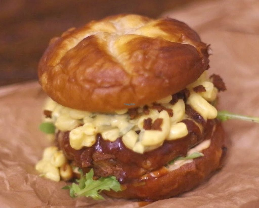 """Photo of Parlor City Vegan  by <a href=""""/members/profile/melancholyway"""">melancholyway</a> <br/>Captain Planet Burger  <br/> September 19, 2016  - <a href='/contact/abuse/image/79830/209438'>Report</a>"""