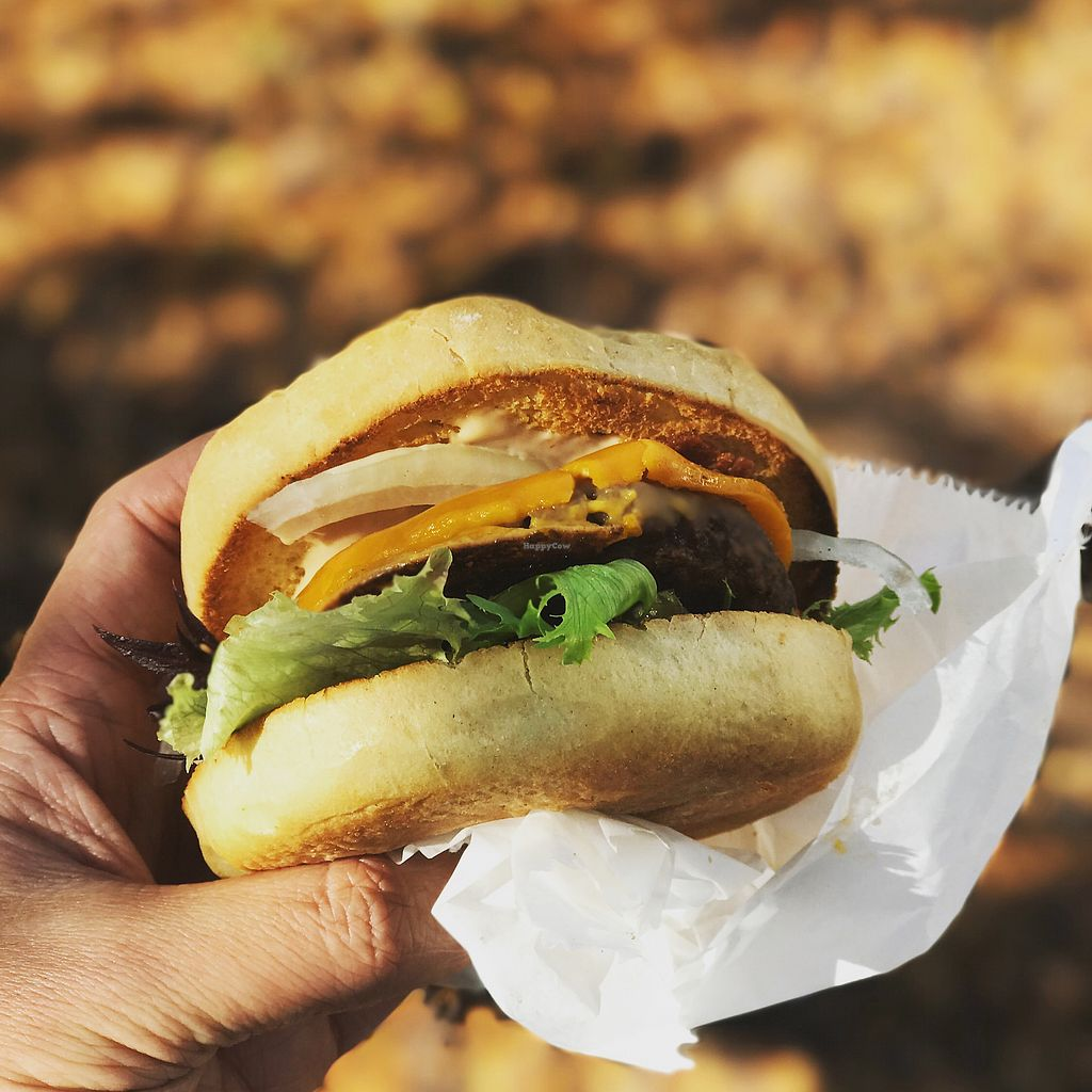 """Photo of Parlor City Vegan  by <a href=""""/members/profile/melancholyway"""">melancholyway</a> <br/>Big Rick Burger  <br/> October 3, 2017  - <a href='/contact/abuse/image/79830/311528'>Report</a>"""