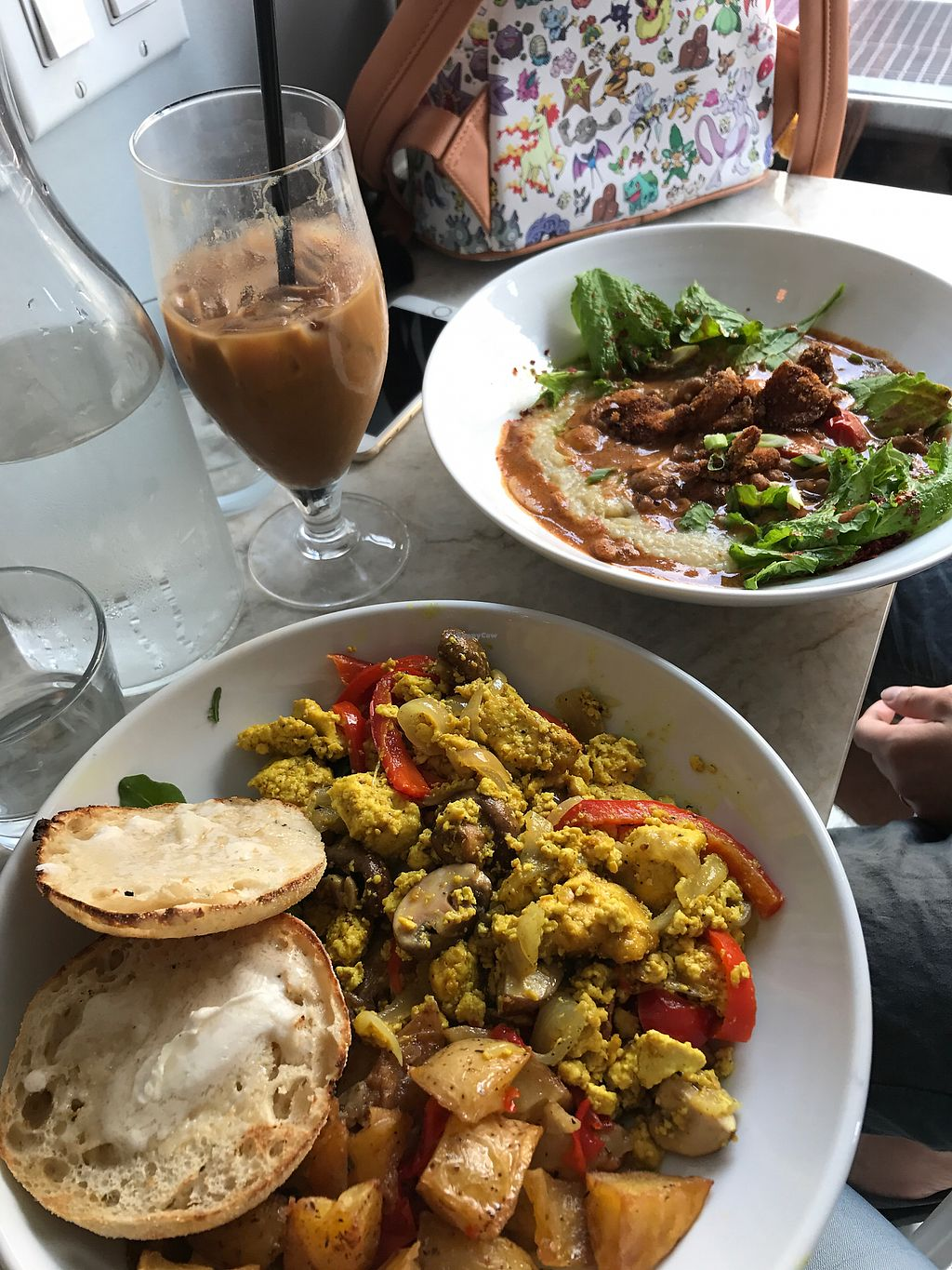 """Photo of Modern Love Brooklyn  by <a href=""""/members/profile/Oliviafoti"""">Oliviafoti</a> <br/>muffins with tofu scramble and open burrito <br/> September 12, 2017  - <a href='/contact/abuse/image/79835/303542'>Report</a>"""