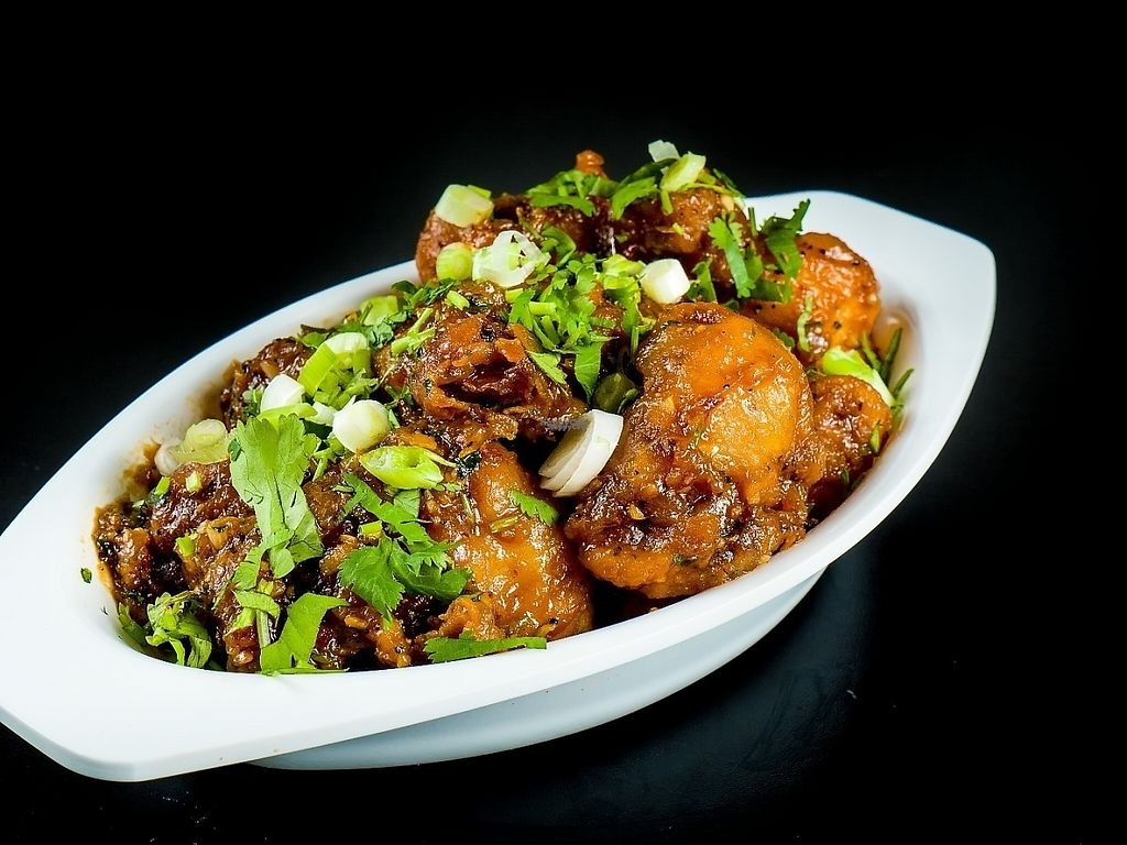 """Photo of Chowpatty Express  by <a href=""""/members/profile/chowpattyexpress"""">chowpattyexpress</a> <br/>Gobi Manchurian indo-Chinese ( vegan )  cauliflower florets coated and deep fried for perfection and prepared variety of indo-Chinese sauce ,can be made dry or gravy  <br/> December 24, 2016  - <a href='/contact/abuse/image/79843/204395'>Report</a>"""