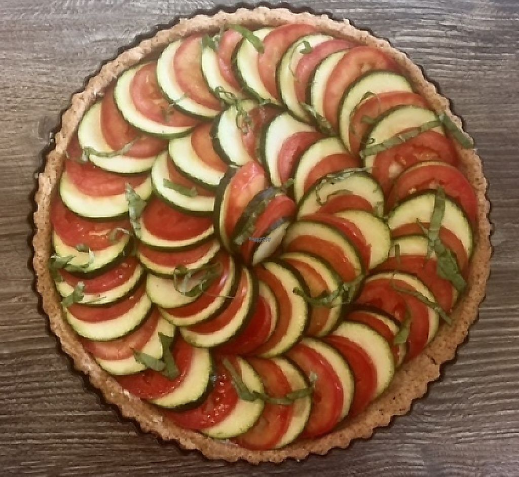 "Photo of The PUREGANIC Cafe  by <a href=""/members/profile/Rldeak"">Rldeak</a> <br/>Vegan gluten free dairy free savory tart made with sunflower, zucchini and tomato. Really, really tasty.  <br/> December 23, 2016  - <a href='/contact/abuse/image/79859/209339'>Report</a>"