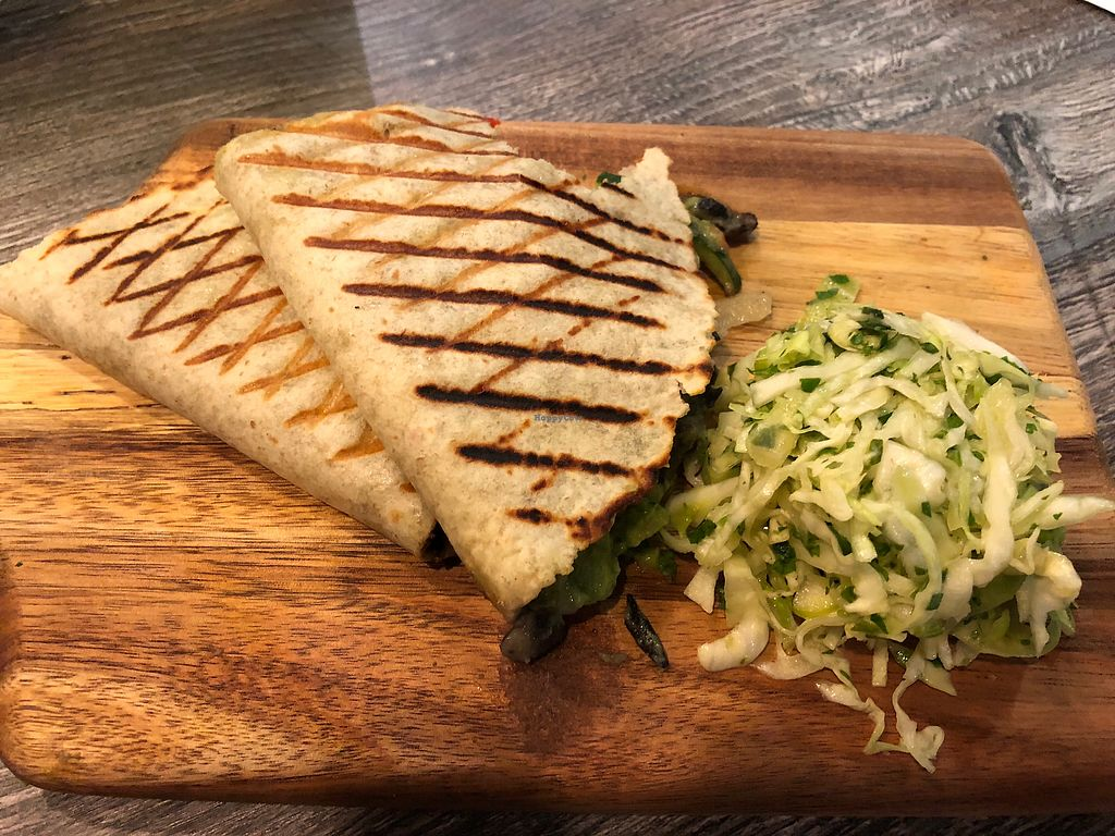 "Photo of The PUREGANIC Cafe  by <a href=""/members/profile/RosalynNeander"">RosalynNeander</a> <br/>Veggie quesadilla <br/> January 30, 2018  - <a href='/contact/abuse/image/79859/352758'>Report</a>"