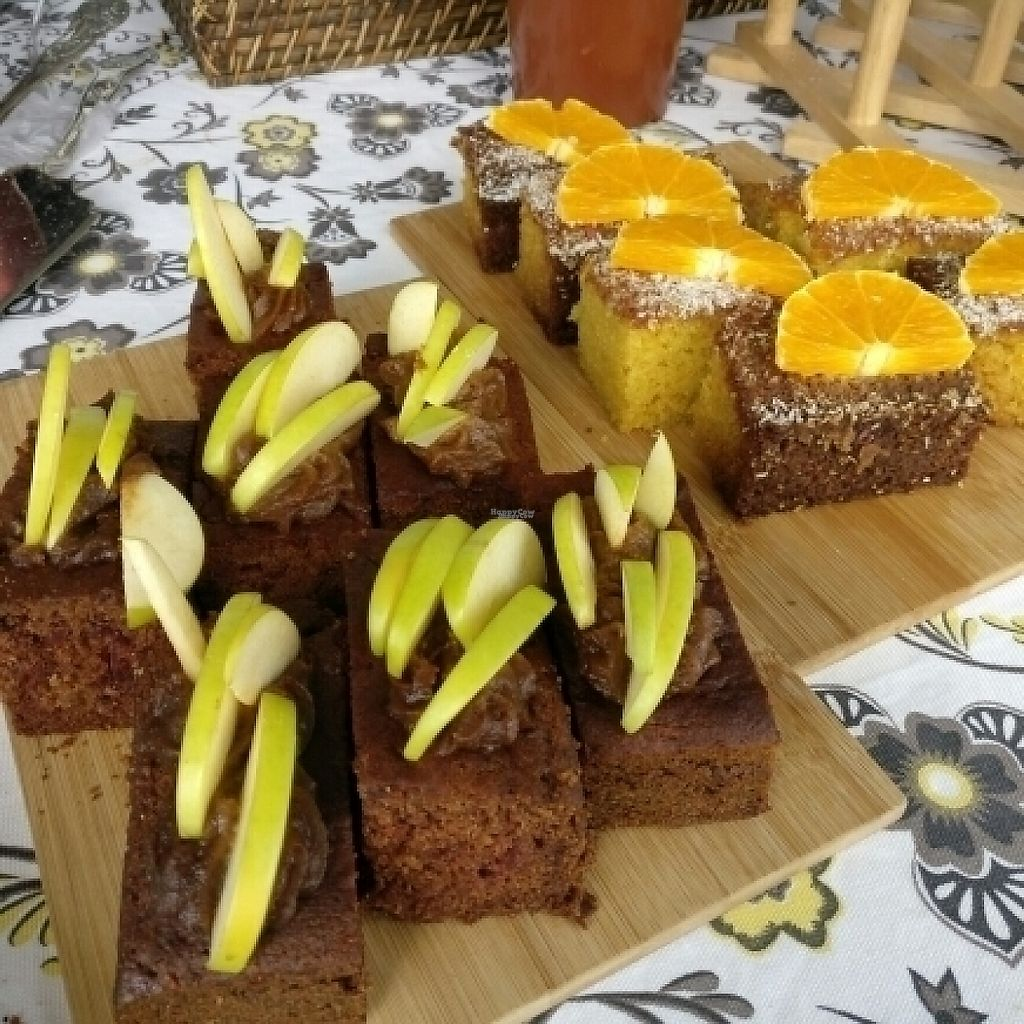 """Photo of Von's Vegan Bake House  by <a href=""""/members/profile/Aloo"""">Aloo</a> <br/>semolina orange cake & apple salted caramel <br/> November 13, 2016  - <a href='/contact/abuse/image/79860/189268'>Report</a>"""