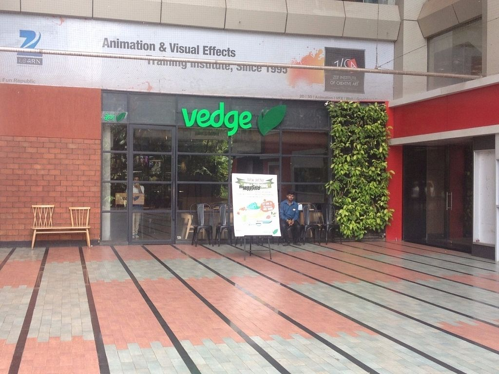"""Photo of Vedge - Andheri West  by <a href=""""/members/profile/vegan_ryan"""">vegan_ryan</a> <br/>Entrance <br/> September 9, 2016  - <a href='/contact/abuse/image/79873/174619'>Report</a>"""