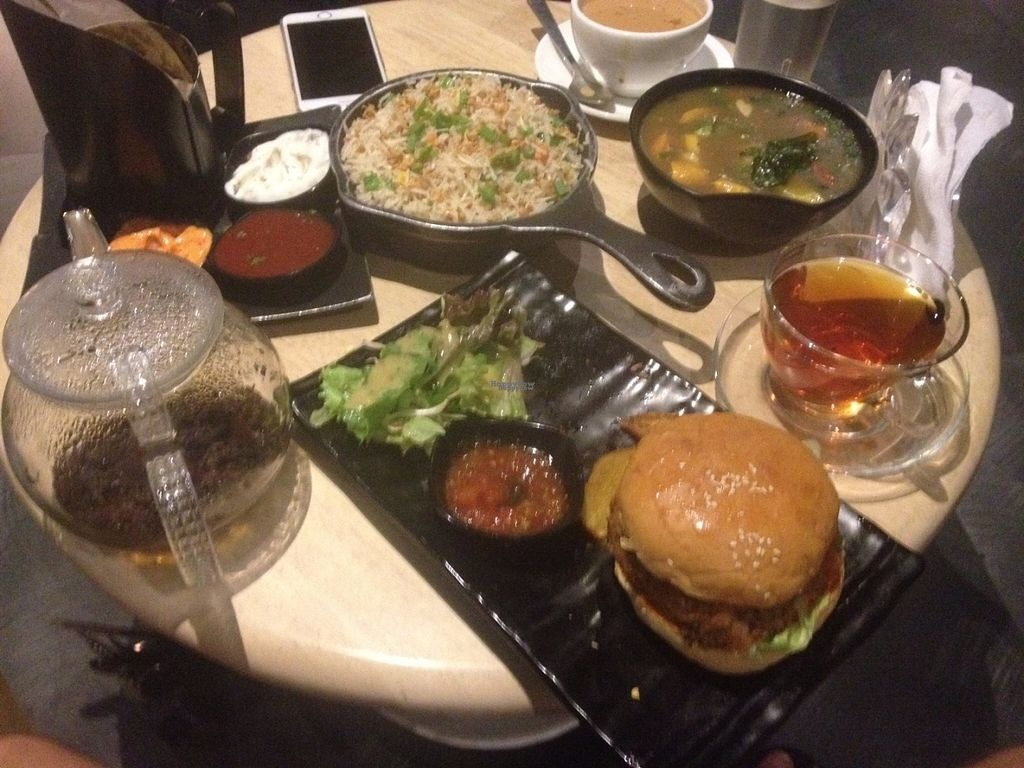 "Photo of Tea Villa Cafe - Andheri West  by <a href=""/members/profile/vegan_ryan"">vegan_ryan</a> <br/>Table full of food <br/> September 9, 2016  - <a href='/contact/abuse/image/79874/174624'>Report</a>"