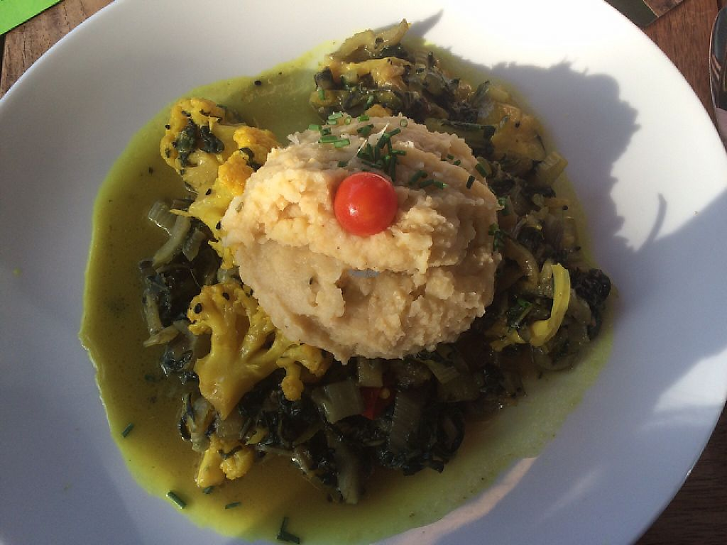 """Photo of Mezzo   by <a href=""""/members/profile/monisonfire"""">monisonfire</a> <br/>cauliflower spinach dish <br/> April 29, 2017  - <a href='/contact/abuse/image/79881/253892'>Report</a>"""