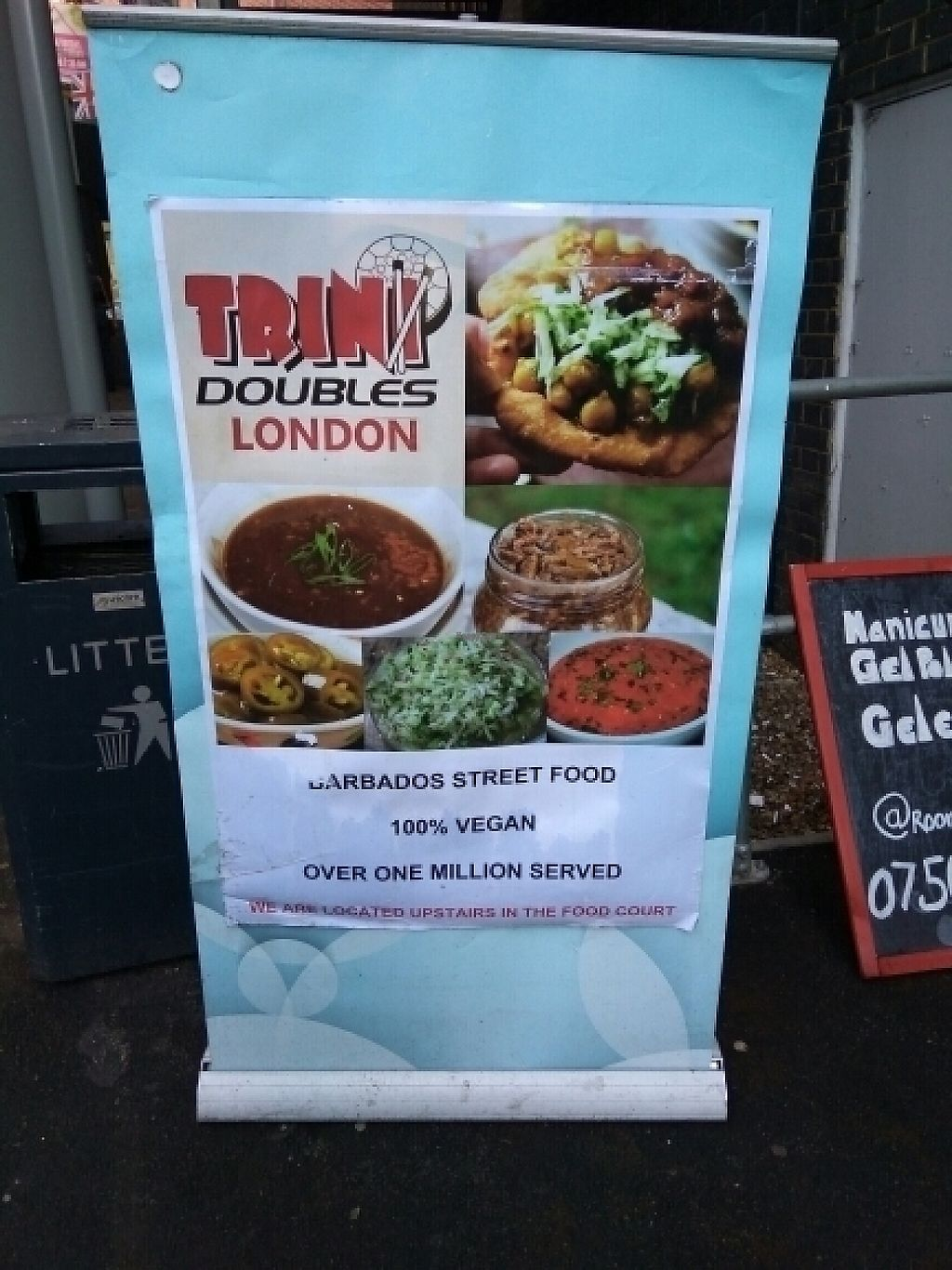 """Photo of CLOSED: Trini Doubles  by <a href=""""/members/profile/Miggi"""">Miggi</a> <br/>Sign at entrance <br/> February 4, 2017  - <a href='/contact/abuse/image/79933/222006'>Report</a>"""