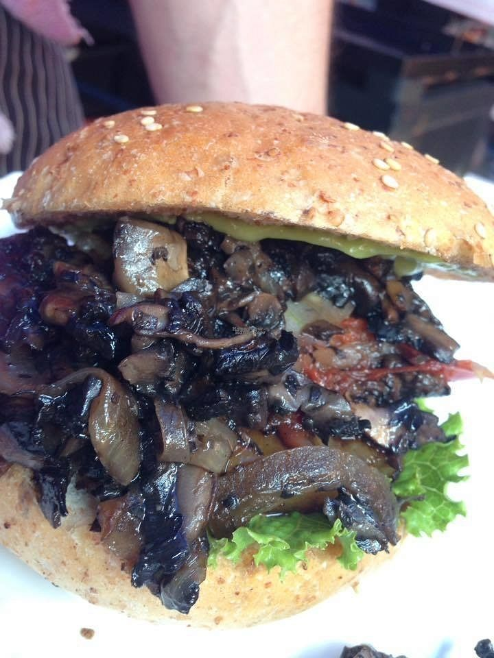 """Photo of Mi Vida Vegana  by <a href=""""/members/profile/community"""">community</a> <br/>mushroom burger  <br/> September 17, 2016  - <a href='/contact/abuse/image/79956/176216'>Report</a>"""