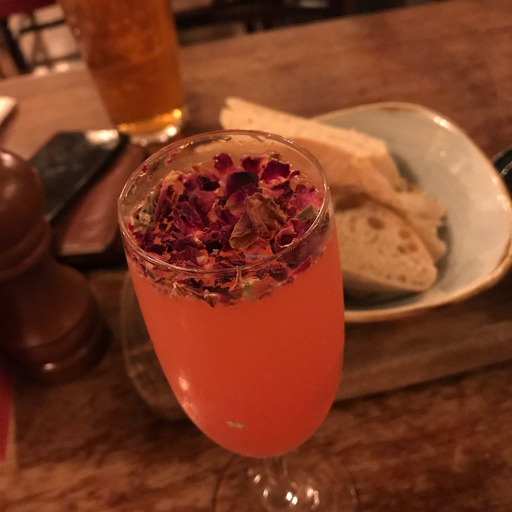 """Photo of The Cosy Club  by <a href=""""/members/profile/MelbourneMegan"""">MelbourneMegan</a> <br/>English Rose cocktail  <br/> September 8, 2017  - <a href='/contact/abuse/image/79966/302115'>Report</a>"""