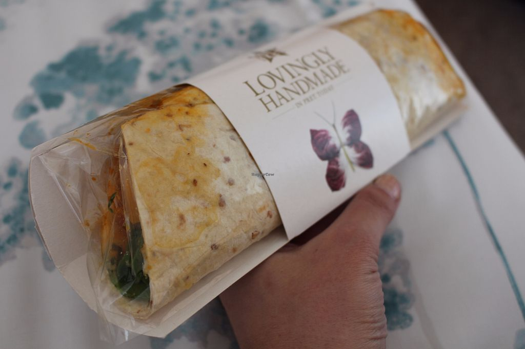"Photo of Veggie Pret - Broadwick St  by <a href=""/members/profile/ericacrombie"">ericacrombie</a> <br/>Chakalaka Wrap <br/> September 23, 2017  - <a href='/contact/abuse/image/79977/307304'>Report</a>"