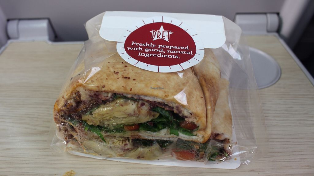 "Photo of Veggie Pret - Broadwick St  by <a href=""/members/profile/ericacrombie"">ericacrombie</a> <br/>Grilled artichokes & olive tepenade flat bread <br/> September 23, 2017  - <a href='/contact/abuse/image/79977/307305'>Report</a>"