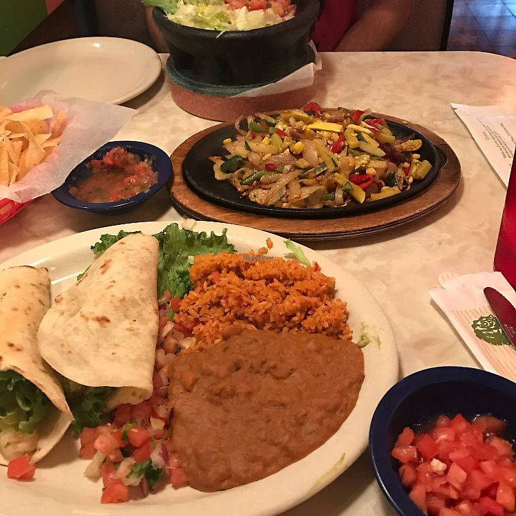 "Photo of Chuy's  by <a href=""/members/profile/kjconrad88"">kjconrad88</a> <br/>Vegan guac tacos & Fajitas  <br/> June 22, 2017  - <a href='/contact/abuse/image/79984/272443'>Report</a>"