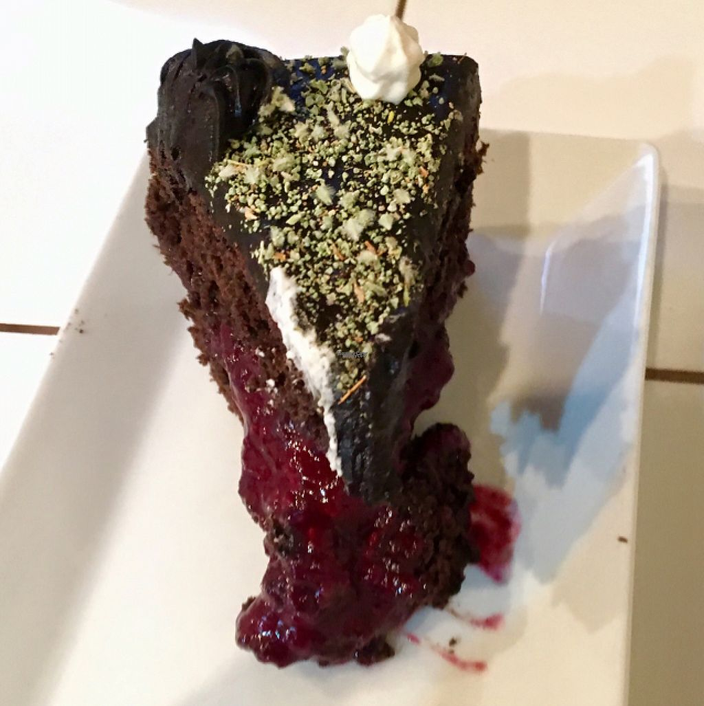 """Photo of Bum Kaldi  by <a href=""""/members/profile/VeganVicky"""">VeganVicky</a> <br/>vegan chocolate 'rica rica' cake <br/> February 19, 2017  - <a href='/contact/abuse/image/79993/228315'>Report</a>"""