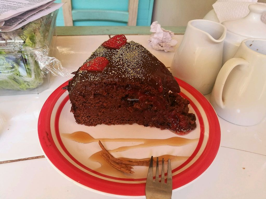 """Photo of Bum Kaldi  by <a href=""""/members/profile/murphman"""">murphman</a> <br/>Chocolate and strawberry tart <br/> January 25, 2018  - <a href='/contact/abuse/image/79993/350810'>Report</a>"""