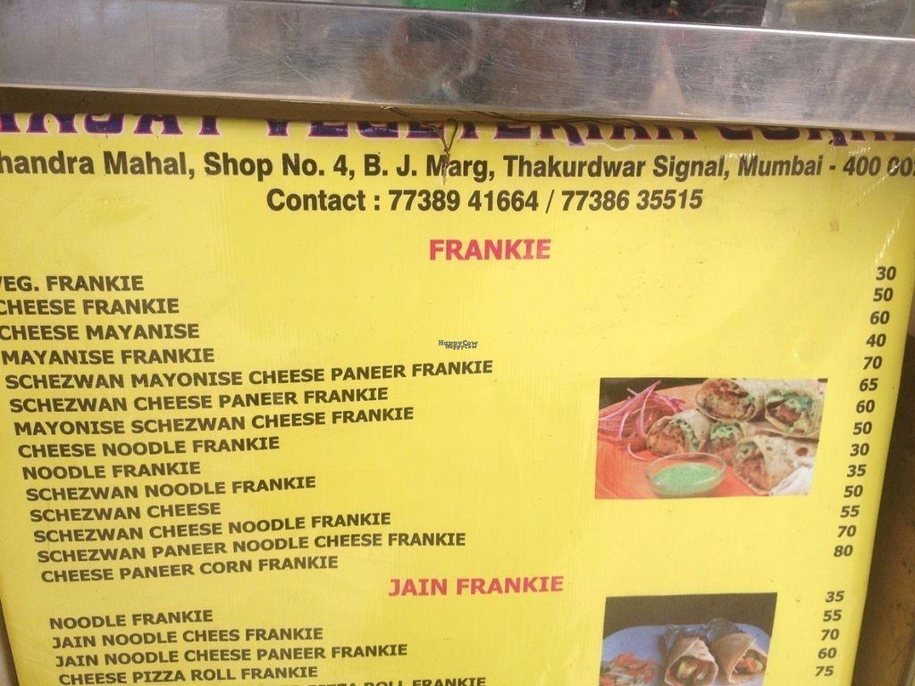 "Photo of Sanjay Vegetarian Corner  by <a href=""/members/profile/vegan_ryan"">vegan_ryan</a> <br/>Menu <br/> September 13, 2016  - <a href='/contact/abuse/image/80005/175389'>Report</a>"