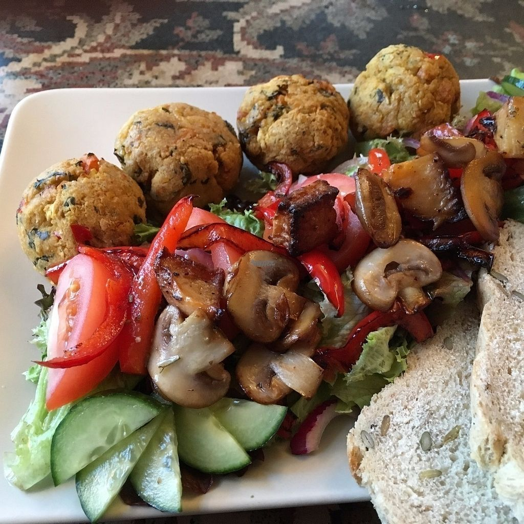"""Photo of Cafe Ilmur  by <a href=""""/members/profile/VesantoMelina"""">VesantoMelina</a> <br/>For vegans: excellent falafel plate with salad and gluten free grains optional; a tasty vegan soup--generally each day.  Yummy raw vegan cookies <br/> September 15, 2016  - <a href='/contact/abuse/image/80017/175836'>Report</a>"""