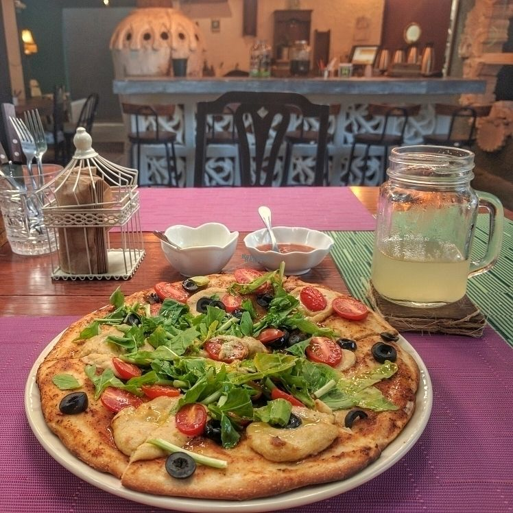 """Photo of Sirena Morena  by <a href=""""/members/profile/swissglobetrotter"""">swissglobetrotter</a> <br/>Vegan Pizza <br/> October 8, 2016  - <a href='/contact/abuse/image/80034/180631'>Report</a>"""